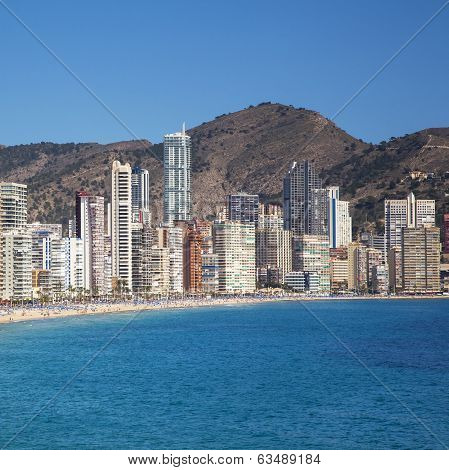 Benidorm, Play De Levante, Costa Blanca, Spain.