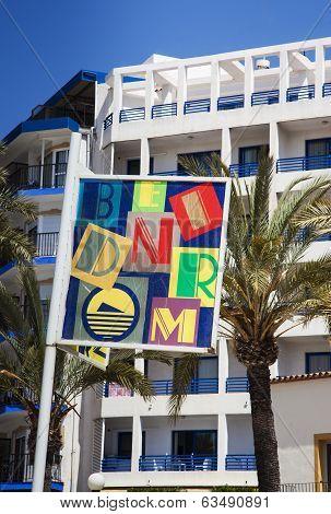 Benidorm, Costa Blanca, Spain - April 9th 2014
