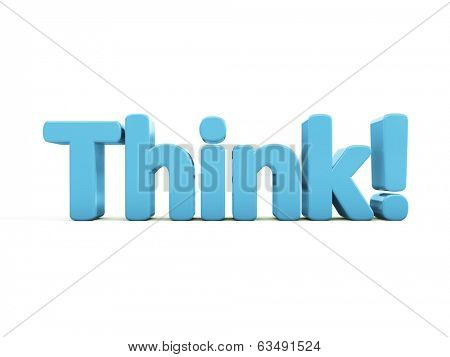 Think icon on a white background. 3D illustration