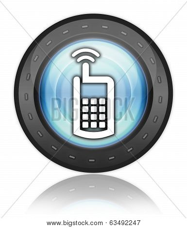 Icon Button Pictogram Cell Phone