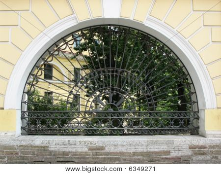 Decorative cast-iron fence.