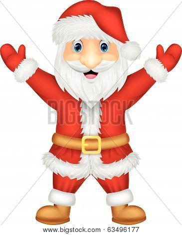 Santa cartoon waving