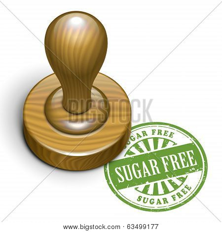 Sugar Free Grunge Rubber Stamp