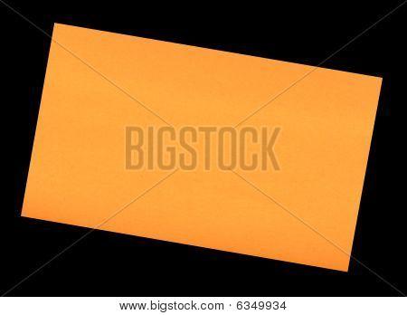Stick It Note  Orange  Black