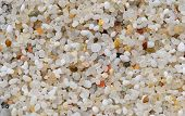 picture of quartz  - Sand made up of small round quartz grains with colours that vary from pink to light - JPG