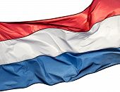 stock photo of holland flag  - The Holland flag on a white background - JPG