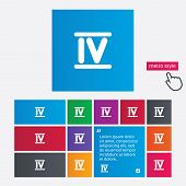 foto of roman numerals  - Roman numeral four sign icon - JPG