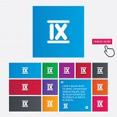 image of roman numerals  - Roman numeral nine sign icon - JPG