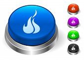 Fire Icons on Round Button Collection