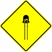 picture of diodes  - led light emitting diode sign - JPG