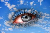 stock photo of all seeing eye  - all seeing eye in the sky  - JPG