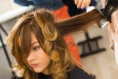 stock photo of coiled  - Hairdresser salon - JPG