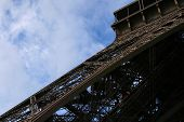 stock photo of arch foot  - detail of one of the feet of the Eiffel tower - JPG
