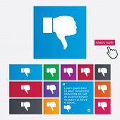 image of dislike  - Dislike sign icon - JPG