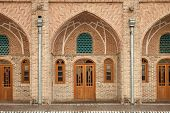 picture of tehran  - Brickwork architecture of a renovated old Persian caravansary in Tehran - JPG