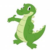 picture of gator  - Cartoon crocodile - JPG