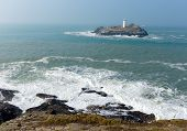 picture of st ives  - Godrevy lighthouse island St Ives Bay Cornwall England UK - JPG