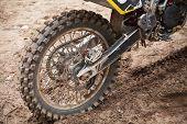 image of motocross  - Rear wheel of sport bike - JPG