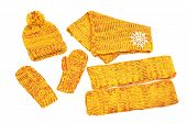 image of leg warmer  - Matching yellow neck wear - JPG