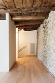 beautiful modern loft, empty room, passage