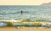 pic of canoe boat man  - Canoeing  - JPG