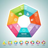 pic of polygons  - Vector illustration of a set of polygon infographic elements with provided are 3 4 5 6 7 8 9 and 10 parts polygon sets - JPG