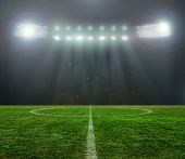foto of illuminating  - On the stadium - JPG