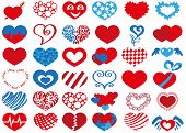 picture of broken heart flower  - Image icons in heart shape on white background - JPG