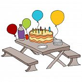 An image of a birthday party table.