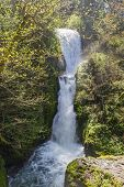 picture of bridal veil  - bridal veil falls located in the columbia gorge in Oregon shot in early spring - JPG