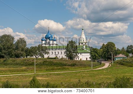 Suzdal Kremlin and cathedral of Nativity, Russia