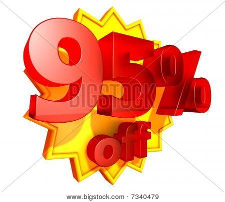 95 Percent price off