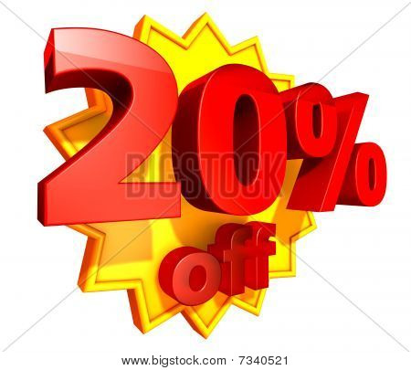 20 Percent price off