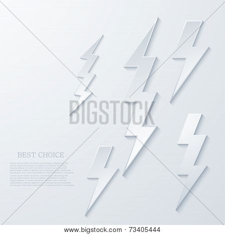 Vector modern lightning background.