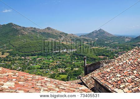 Panoramic view of Morano Calabro. Calabria. Italy.