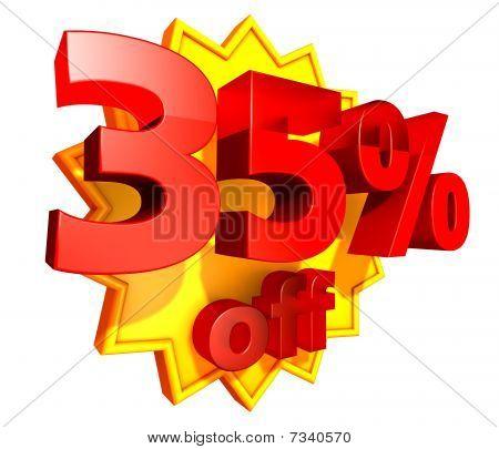 35 Percent price off