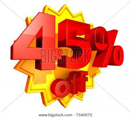 45 Percent price off
