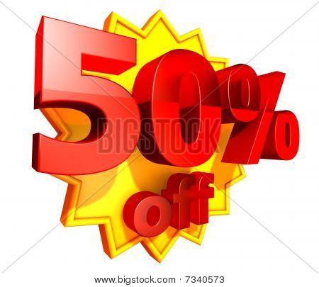 50 Percent price off