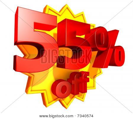 55 Percent price off