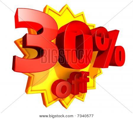 30 Percent price off