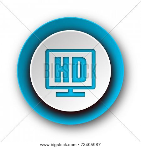 hd display blue modern web icon on white background