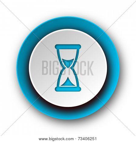 time blue modern web icon on white background