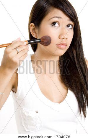 Brushing Cheek