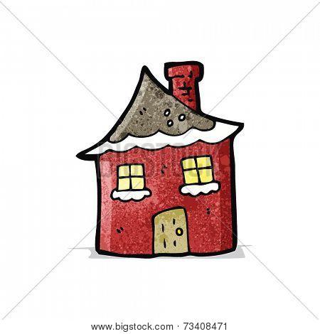 cartoon christmas cottage