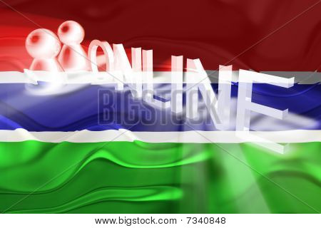 Flag Of Gambia Wavy Online