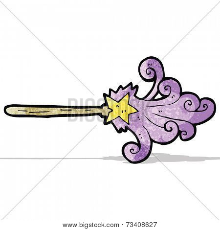 cartoon magic wand