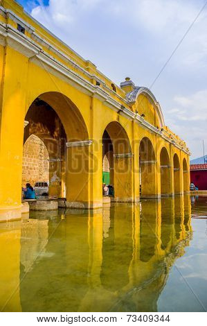 La union water tank in antigua guatemala