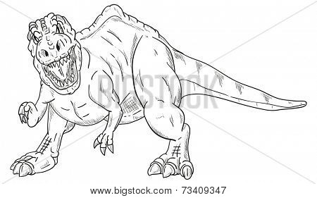 vector - dinosaur attacking , isolated on background