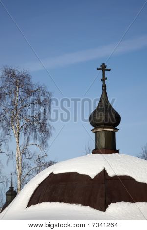 Church Cupola With Cross, Kirillo-belozersky Monastery, Russia