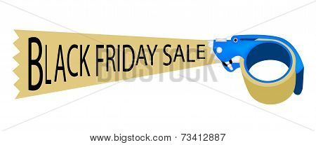 Adhesive Tape Dispenser With Word Black Friday Sale